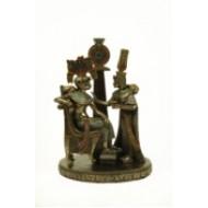 Faraón con reina.