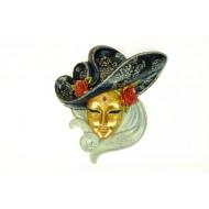 Máscara Venecianacon Sombrero.